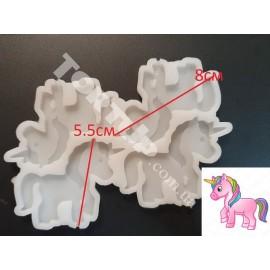Молд силиконовый для леденцов Единорог 4шт на планшете