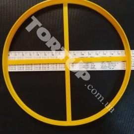 Пластиковая вырубка Рамка круг 16,5см