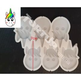 Молд силиконовый для леденцов Единорог голова №2