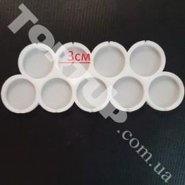 Молд силиконовый для леденцов Круги№2, 9шт, 3см