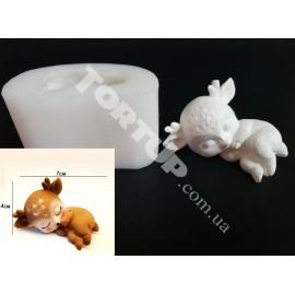 Молд силиконовый Оленёнок 3D №1
