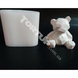 Молд силиконовый Медведь гранёный 6.5см