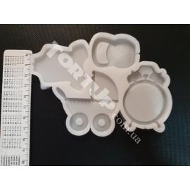 Молд силиконовый для леденцов Детский №1