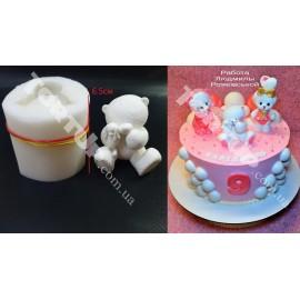 Молд силиконовый 3D Мишка плюшевый с зайкой №2 6.5см