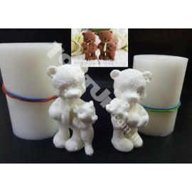 Молд силиконовый 3D Мишки семья набор 7.5см