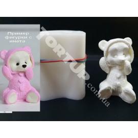 Молд силиконовый 3D Мишки в пижаме №1 (сидит) 8.5 см
