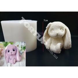 Молд силиконовый 3D Зайка плюшевый №2