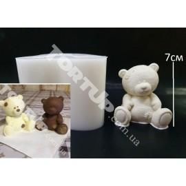 Молд силиконовый 3D Мишка плюшевый  №3, 7см