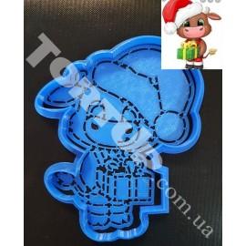 Пластиковая вырубка с трафаретом Бычок с подарком 12см
