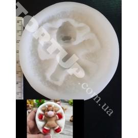 Молд силиконовый Бычок на снегу 7см