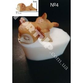 Молд силиконовый Оленёнок 3D №4