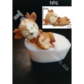 Молд силиконовый Оленёнок 3D №6