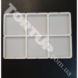 Молд силиконовый для леденцов Квадрат 5см