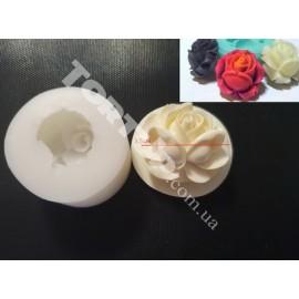 Молд силиконовый Роза 3D №3 3.5см