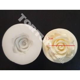 Молд силиконовый Роза 3D №4 2.5см
