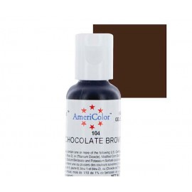 Гелевая краска AmeriColor шоколадно коричневый (Chocolate Brown)