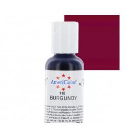 Гелевая краска AmeriColor бордовый (Burgundy)