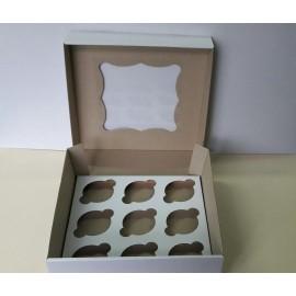 Коробка для маффинов на 9шт с окном