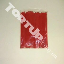 Палочки для кейк-попсов 150мм 50шт красные