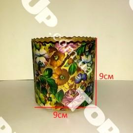 Бумажная форма для куличей 9*9см