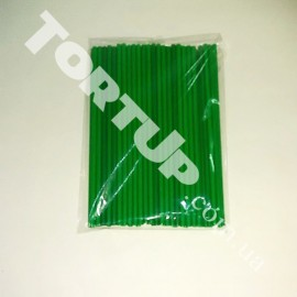 Палочки для кейк-попсов 150мм 50шт зелёные