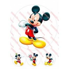 Вафельная картинка Микки и Минни 046