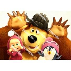 Вафельная картинка Маша и Медведь 004