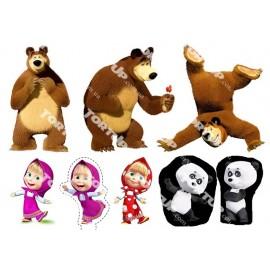Вафельная картинка Маша и Медведь 005