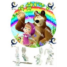 Вафельная картинка Маша и Медведь 006