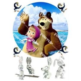Вафельная картинка Маша и Медведь 007