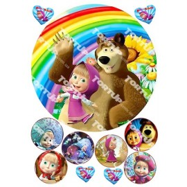Вафельная картинка Маша и Медведь 010