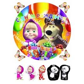 Вафельная картинка Маша и Медведь 013