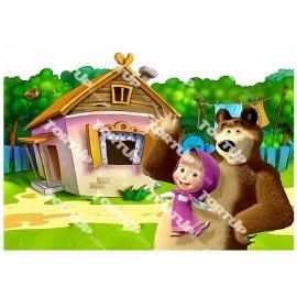 Вафельная картинка Маша и Медведь 019