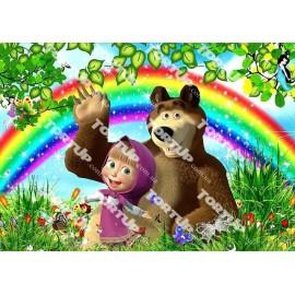 Вафельная картинка Маша и Медведь 021