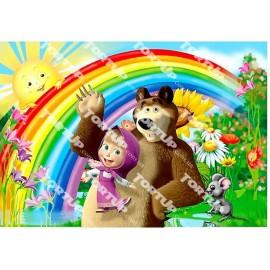 Вафельная картинка Маша и Медведь 022