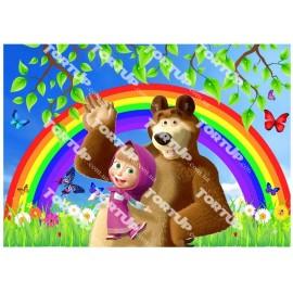 Вафельная картинка Маша и Медведь 023