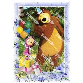 Вафельная картинка Маша и Медведь 025