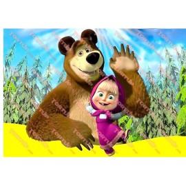 Вафельная картинка Маша и Медведь 027
