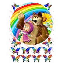 Вафельная картинка Маша и Медведь 030
