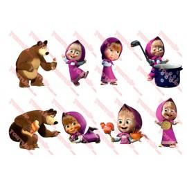 Вафельная картинка Маша и Медведь 031