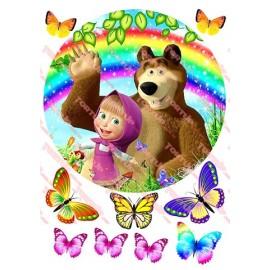 Вафельная картинка Маша и Медведь 032