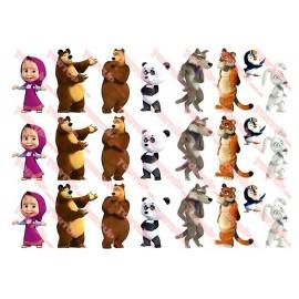 Вафельная картинка Маша и Медведь 038